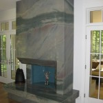 Azul Imperial Fireplace, Full View