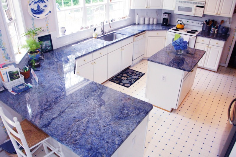 Exceptionnel Blue Bahia Kitchen Counters And Island.