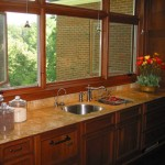 Golden Sienna Sink and counters