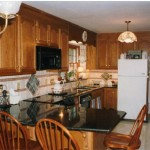 UbaTuba kitchen counters with a bullnose edge profile