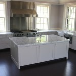 5cm White Carrara kitchen counters and island